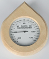 0309K: Raindrop shaped thermometer with encased dial
