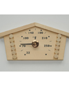 """1517: Wooden Log House thermometer (9 1/8"""" x 4 5/8"""", °F)"""