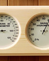 280K: Deluxe pine encased thermometer/hygrometer