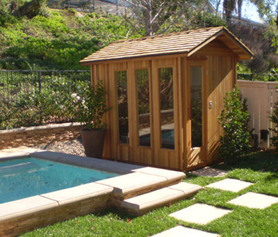 Image gallery outdoor sauna for Sauna plans outdoor